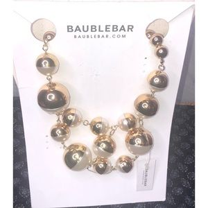 BAUBLEBAR Statement Necklace Beads Gold & Ivory